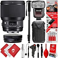 Sigma 85mm f1.4 DG HSM Art Lens for Canon EOS EF DSLR Cameras + 64GB 17PC Bundle for 80D, 77D, 70D, 60D, 60Da, 50D, 7D, 6D, 5D, 5DS, 1DS, T7i, T7s, T7, T6s, T6i, T6, T5i, T5, SL2 and SL1