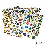 Fun Express Paper Super Rolls of Stickers Assortment, 1000 Stickers