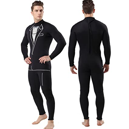 948289a1bf Amazon.com  MYLEDI 3mm Neoprene Full Body Surfing and Diving Suit ...