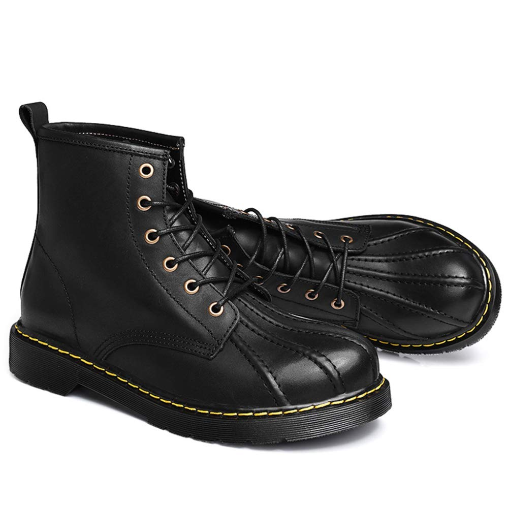 Mens Shell Echtes Leder Martin Stiefel Shell Mens Toe Ankle Boot Vintage Kurze Desert Boot Outdoor Travel Schuhe Trekking Wanderschuh Black 8b8dce