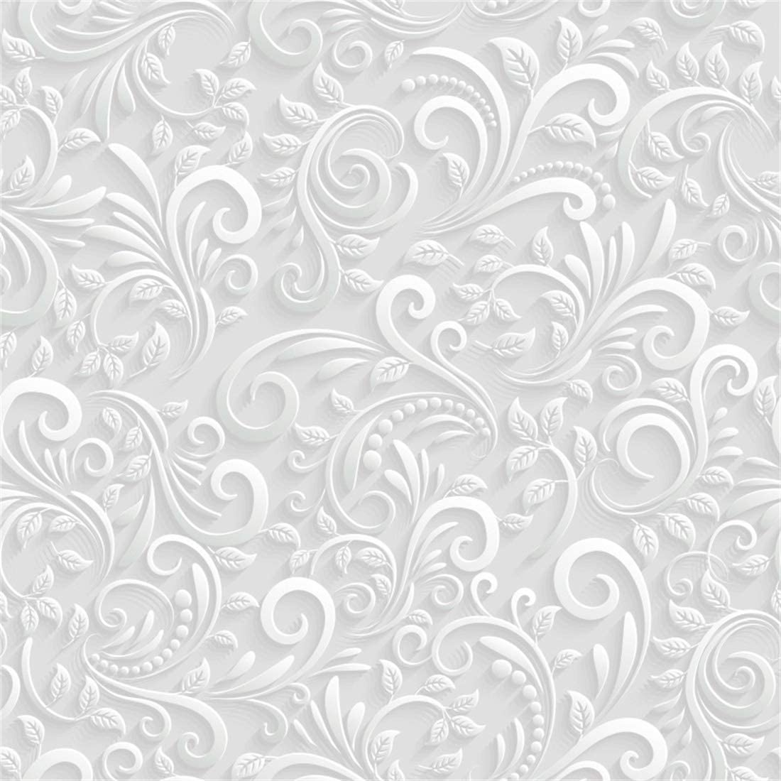 YEELE 10x10ft Floral 3D Pattern Backdrop for Photography Classic Room Interior Background Vintage House Theme YouTube Video Vlogger Baby Kids Girls Portrait Shooting Photo Studio Booth Wallpaper
