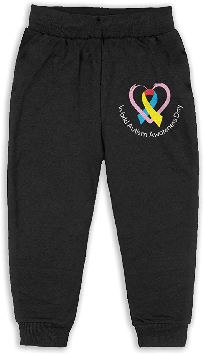 ELCW37K Kids /& Toddler Pants Soft Cozy Baby Sweatpants World Autism Awareness Day Fleece Pants Jogger Pants