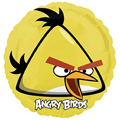 "Yellow Angry Birds 18"" Foil Balloon Party Accessory Birthday Party Supplies: Toys & Games"