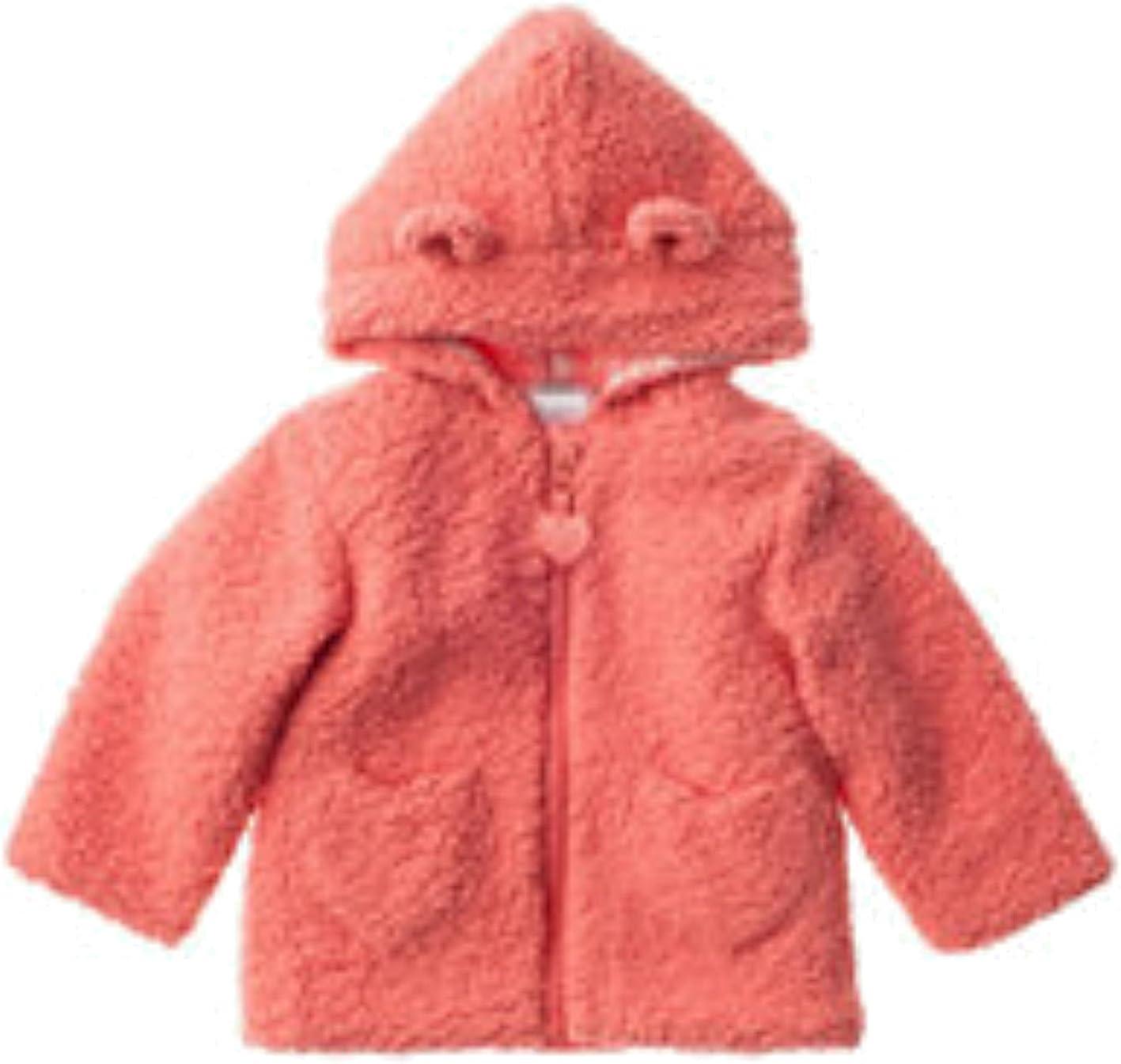 Coral QT Baby Baby Girls Sherpa Heart Full Zip Jacket