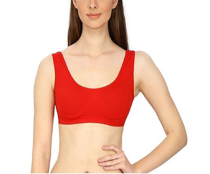 girls red sports bra