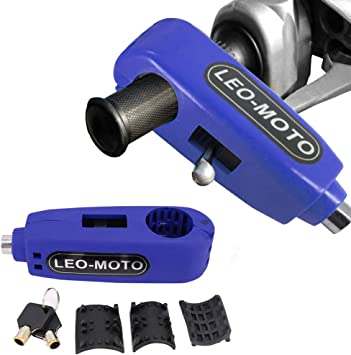 FD-MOTO 110dB Alarm Bremsscheibenschloss Diebstahlsicherung 7mm Pin Sicherheitsschloss 1,5m Erinnerungskabel Motorradschloss F/ür Motorrad Roller Fahrrad