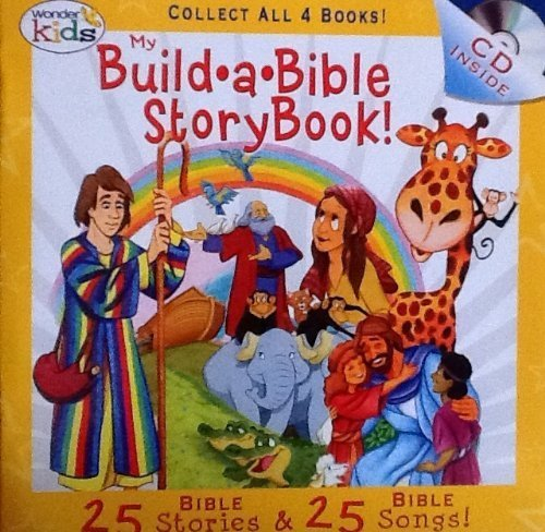 Ark Music Book - My Build A Bible Storybook! Disc 4- 25 Bible Stories, 25 Bible Songs on Included Music CD - By Wonder Kids