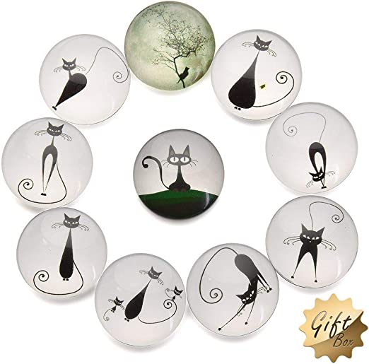 FF Elaine 12 Pcs Fridge Magnets Crystal Glass Housewarming Home Decorations Gift Constellation