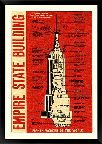 Eight Wonder of the World Empire State Building Poster Vintage Style 1930's New York -