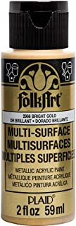 product image for FolkArt multisurface metallic paint, 2 oz, Bright Gold