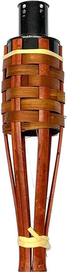 4x TORCIA Bambù Deluxe 90cm MARRONE LAMPADE TORCIA DA GIARDINO LAMPADA TORCIA Bambù