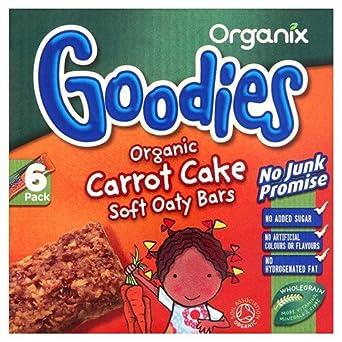 (6 PACK) - Organix - Goodies Carrot Cake Oat Bar | 6 x 30g | 6 PACK BUNDLE