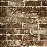 Slavyanski vinyl wallpaper vintage style brown gray white coverings textured vintage retro faux realistic rust rustic brick stone pattern double roll wallcoverings wallpapers walls textures modern