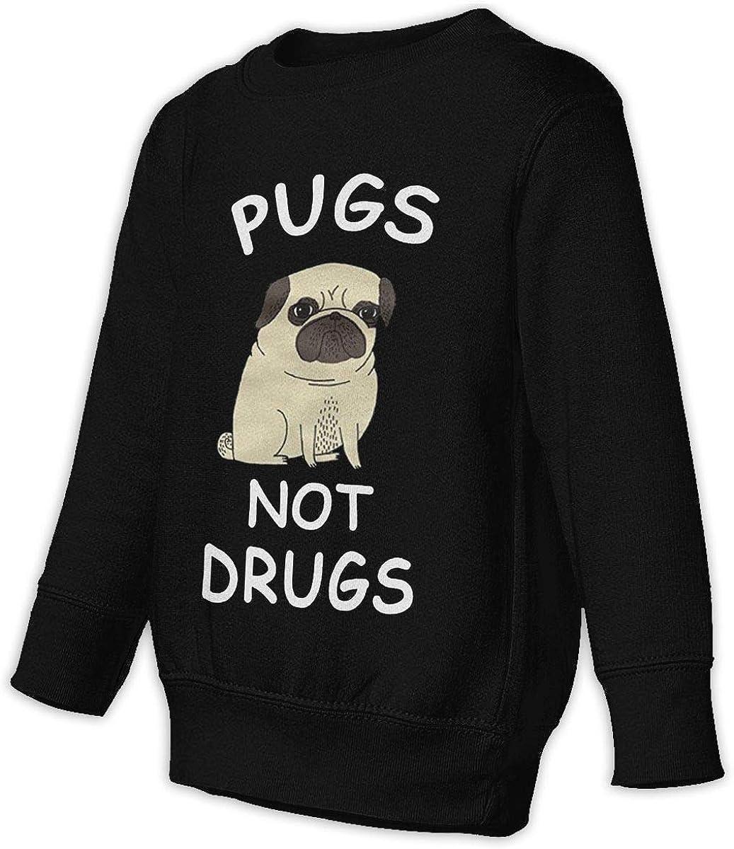 Fleece Pull Over Sweatshirt for Boys Girls Kids Youth Pug Dog Unisex Toddler Hoodies