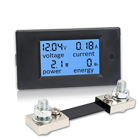 DC 6,5-100 V 0-100A LCD Digital Anzeige Amperemeter Voltmeter Multimeter V 2E 1X