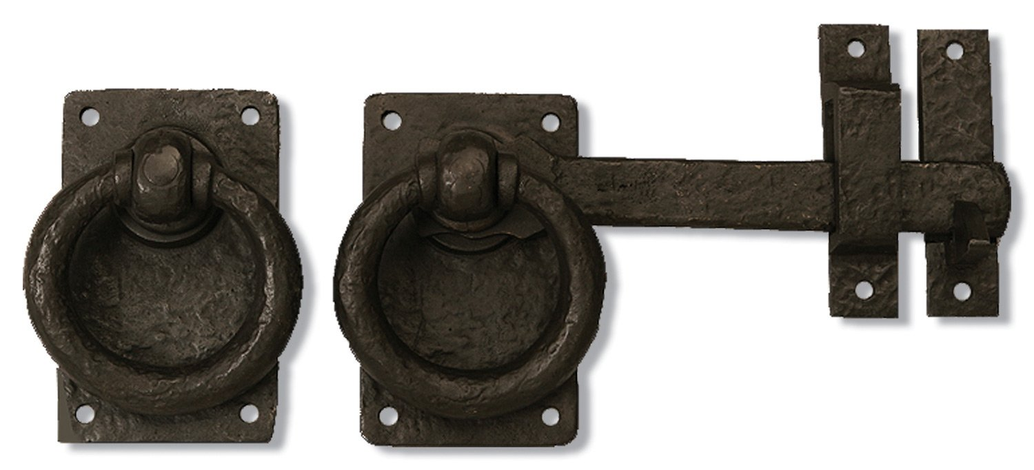 Coastal Bronze - Ring Turn Latch with Drop Bar - Solid Bronze (Right Hand) by Coastal Bronze