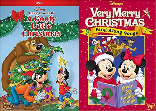 Disney's Sing Along Songs - Very Merry Christmas Songs DVD & Have Yourself A Goofy Little Christmas Set Looney Tunes Show Christmas Carol