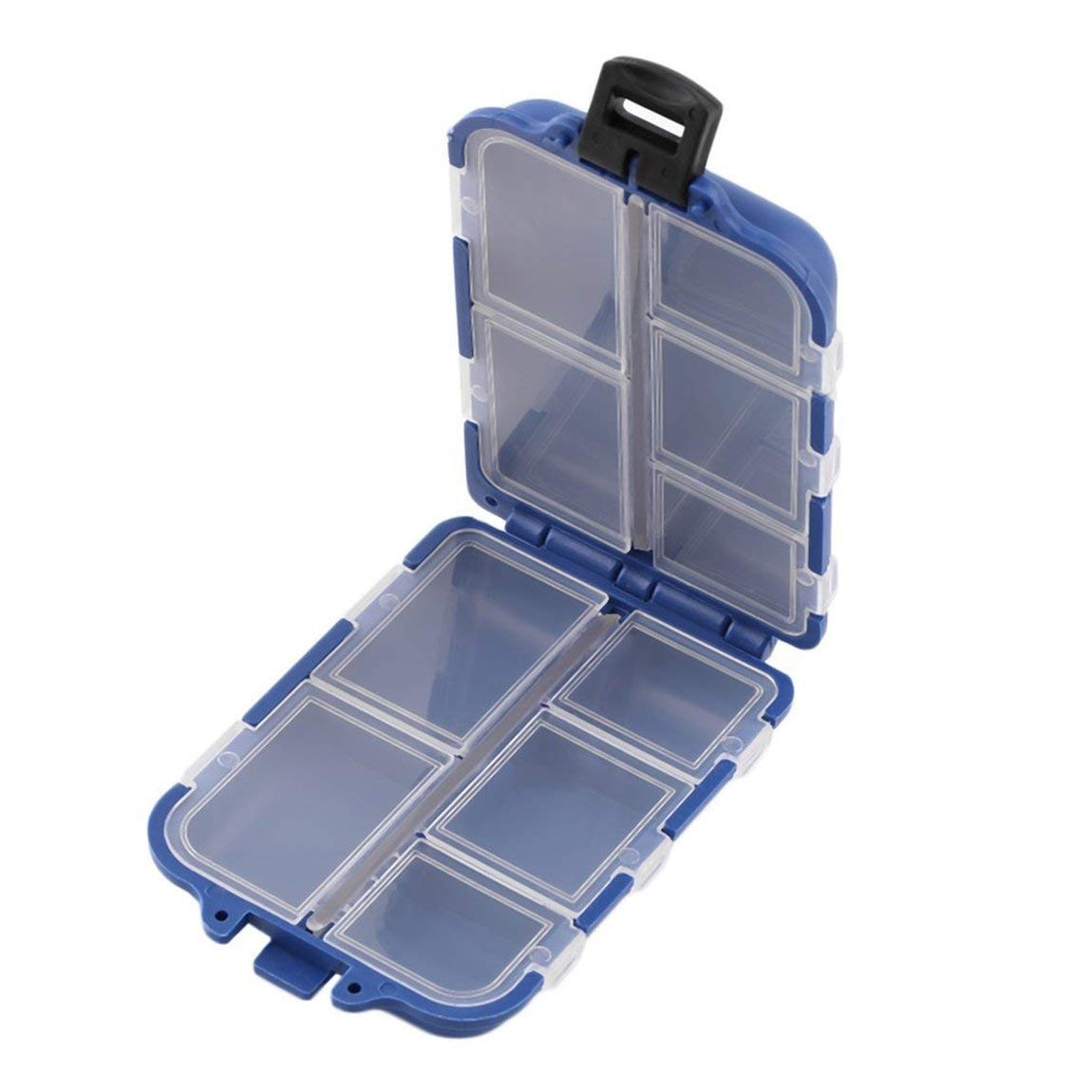 10 Compartments Storage Case Box Fly Fishing Lure Spoon Hook Bait Tackle Box Case Fishing Accessories SeniorMar
