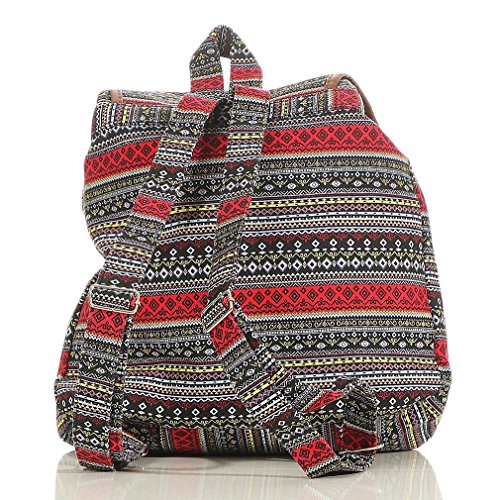 Women´s Schoolbag Black Pattern R800 Daypack Backpack Handbag Multifunction many red malito Pxw0dqa0