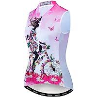 Women's Cycling Jersey Sleeveless Short&Long Sleeve Women MTB Bike Shirt Tops