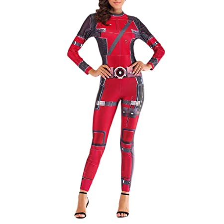 NDHSH Deadpool Avengers Cosplay Disfraces Disfraz para Mujer Traje ...