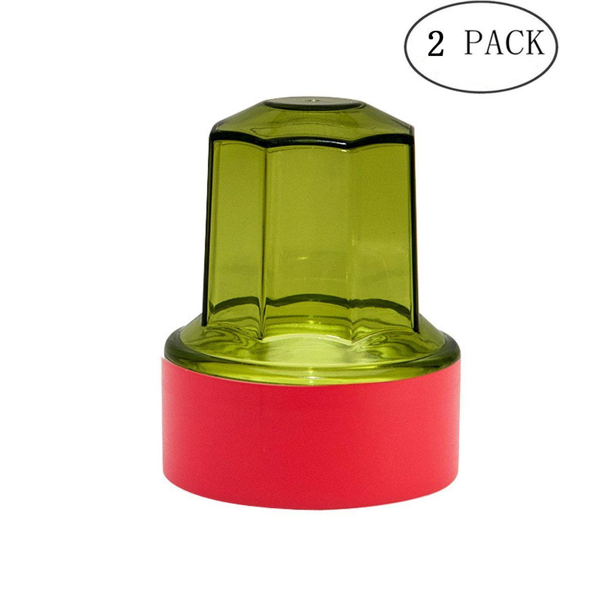 Popowbe Stamps Stamp boxes STAMP BOX WOOD Think More Transparent cow horn seal box Financial storage box chapter box seal box multifunction seal box round single Green