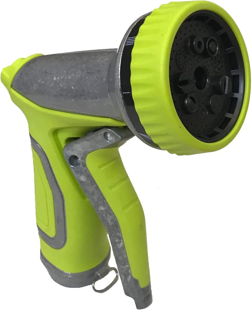 MAXFLO Garden Hose Nozzle | Metal Hose Spray Nozzle | Water Hose Nozzle Sprayer | Gardening 9 Adjustable Watering Patterns, Slip and Shock Resistant for Watering Plants, Cleaning and Car Wash | Green