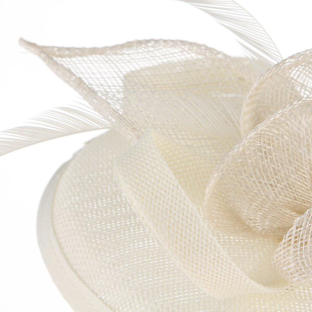 Lukis Chapeau Bibi Fleur Voile Pince /à Cheveux Fascinator Formal Occasions /Église Cocktail Mariage Soir/ée Femme Fille