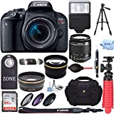 Canon EOS Rebel T7i DSLR Camera + 18-55mm IS STM + 50 Full size tripod+ Accessory Bundle 64GB SDXC Memory + DSLR Photo Bag + Wide Angle Lens + 2x Telephoto Lens +Flash+Remote+Tripod