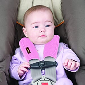 Image: J is for Jeep Car Seat Strap Covers | Gentle and Comfortable Against Baby's Sensitive Skin | Protects Child from Seatbelt Strap Irritation