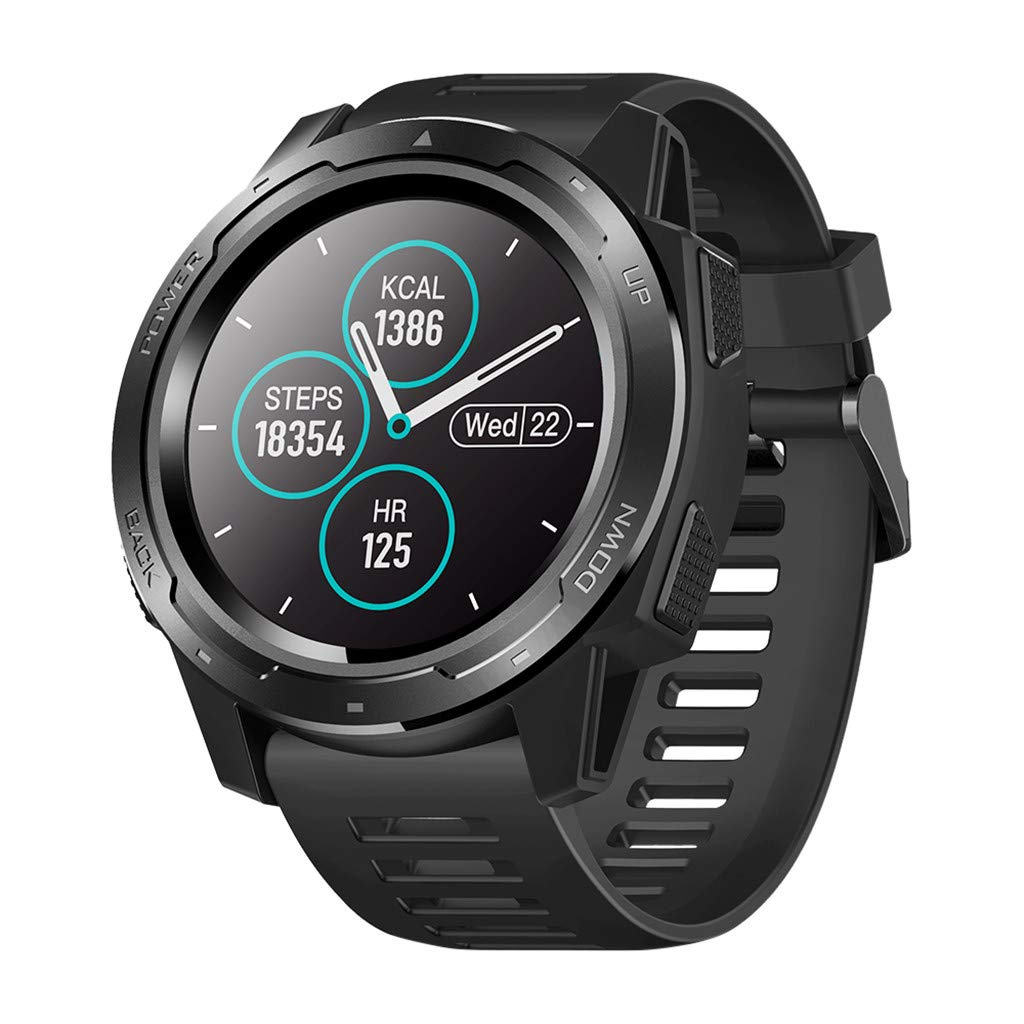 Mbtaua-Watch Zeblaze Vibe Waterproof Smart Bracelet Watch with Heart Rate Blood Pressure Monitor Wrist Watch Black