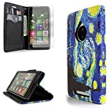Nokia Lumia 830 Case, CoverON® (CarryAll Series) Premium PU Leather Lumia 830 Wallet Case with Card Slots and Cash Compartment Cover for Nokia Lumia 830 + Screen Protector - Design Starry Night