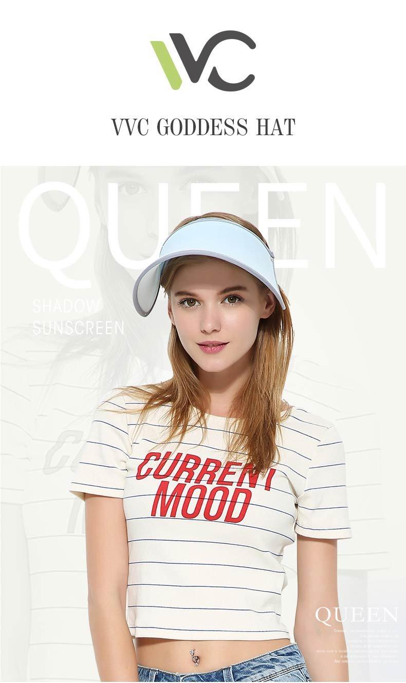 VVC Sun Hats for Women UV Protection Caps Beach Visor Goddess Hat On TV (Blue)