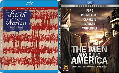 The Men Who Built America History Channel Blu Ray DVD + AMERICA: The Birth of Freedom History Documentary - Civil War / Events / People / - Collection Mens Chanel