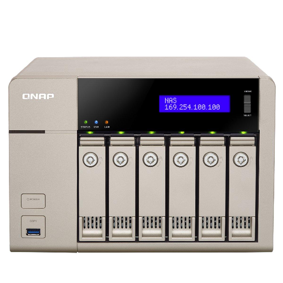 QNAP TVS-663 NAS Torre Ethernet Oro - Unidad RAID (Unidad de disco duro, SSD, Serial ATA II, Serial ATA III, 2.5/3.5