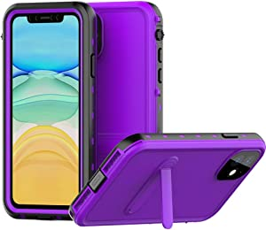 """VONNOBILITY Waterproof iPhone 11 Case,IP68 Certified Dustproof with Built-in Screen Protector Full Body Heavy Duty Protection Shockproof Underwater Cover for iPhone 11 (6.1"""",2019) (Purple)"""