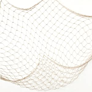 Creamy White Fishing Net Beach Theme Decor for Party Home Living Room Bedroom 78 Inch Mediterranean Style Decor Wall Decoration