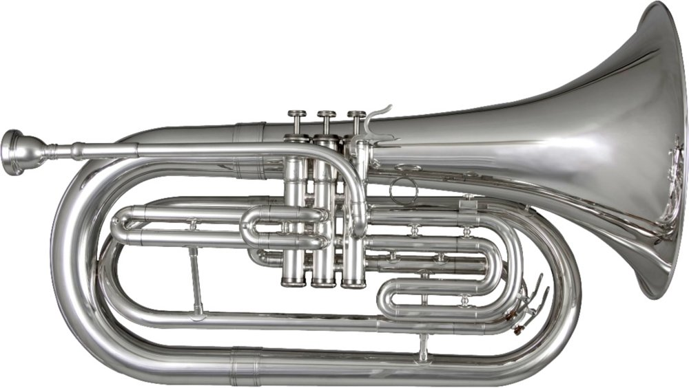 Blessing BM-301 Marching Baritone, Silver-Plated BM301S
