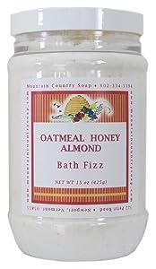 Oatmeal Honey Almond Aromatherapy Bath Fizz - 15 oz.