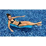 "47"" Blue Mesh Foldable Flip and Float Swimming Pool Lounger Raft"