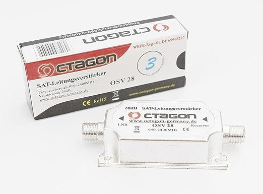 10 opinioni per Octagon OSV 28 Inline amplificatore 20dB 950- 2400MHz