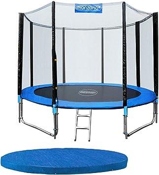monzana Trampolín para jardín Set Completo + Cobertura Cama elástica de diámetro a Escoger 244 305 366 y 426 cm: Amazon.es: Deportes y aire libre