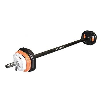 Toorx Body Pump Set 20 kg Pesas + Discos Cuadrados con Mango única: Amazon.es: Deportes y aire libre