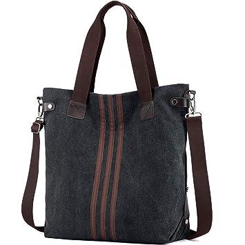 03f155bfd4afd Sinicyder Canvas Handtasche Damen Canvas Tasche Schultertasche Crossbody  Bag Tasche Shopper Beuteltasche
