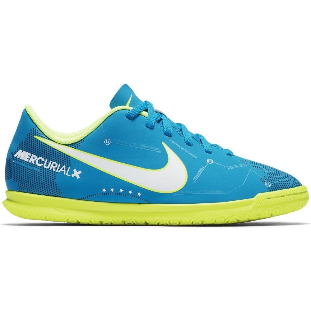 Nike – JR MercurialX VRTX III NJR IC Futsal von Neymar Jr, Unisex Kinder, Blau (Blau Orbit Weiß-Blau Orbit-Armory Navy)