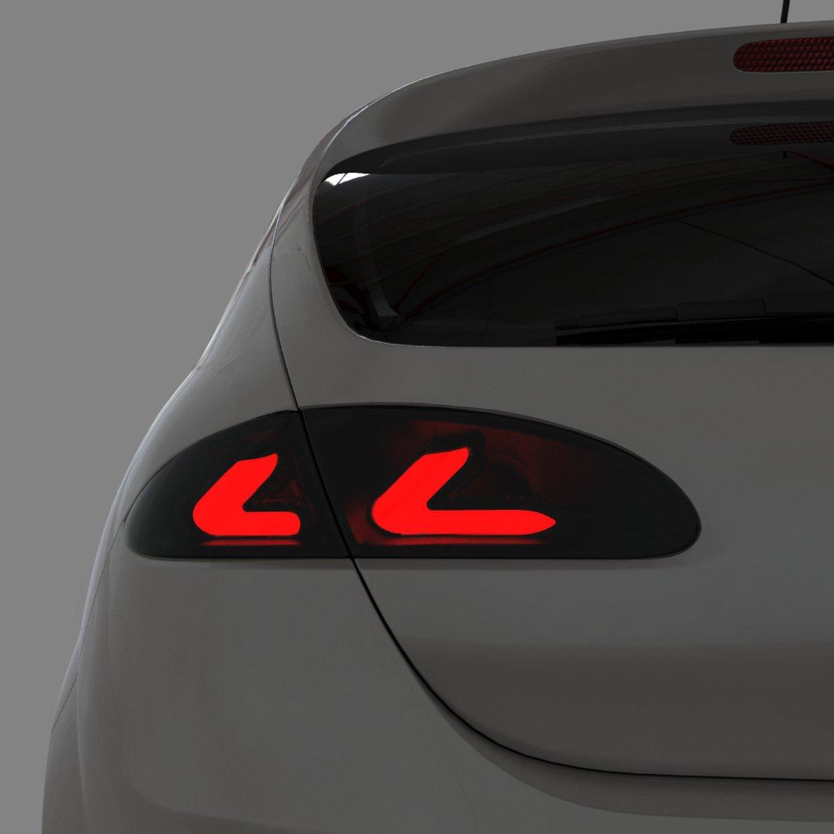 Dectane RSI07LLBS carDNA - Faros traseros LED para Seat León 1P Lightbar (modelos de 2005 a 2009), color negro y gris oscuro: Amazon.es: Coche y moto