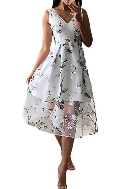 Vestidos Mujer Vestidos De Fiesta Elegantes Sin Mangas V Cuello Cintura Sencillos Especial Alta A-