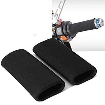 2PCS Motorcycle Slip-on Foam Anti Vibration Comfort Hand Grip Cover Universal Motorcycle Handlebar Grip Cover