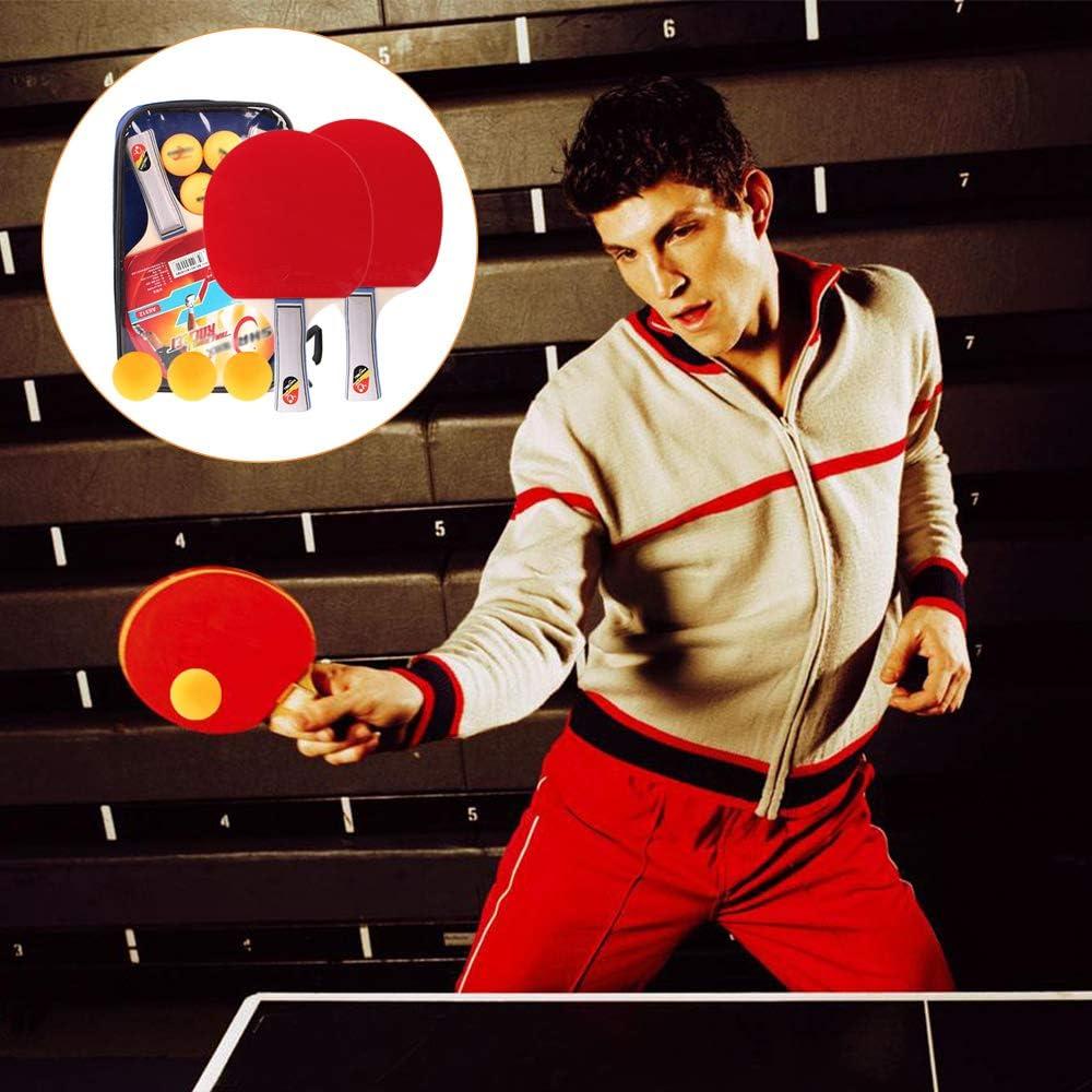 2 Raquetas y 3 Pelotas de Table Tennis Juego de Tenis de Mesa Tenis de Mesa Set, DAZISEN Tenis de Mesa Raquetas