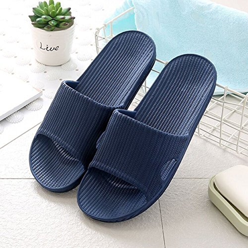 Women Slip Water On Sole Bathroom Non Flop Slippers Men Indoor Pool Shower B Blue Outdoor Men Unisex House Minetom® Soft Shoes Flip Mule Sandals Slip 0Zxwdt0q